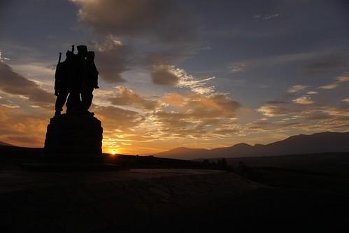 sky sun mountains clouds sunrise scotland highlands