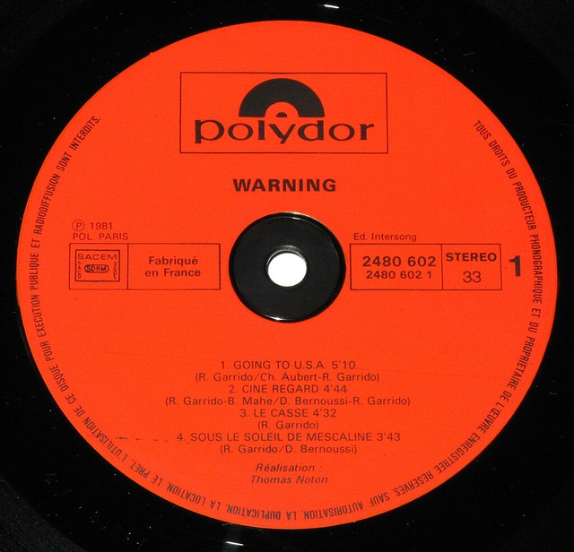 "WARNING - SELF-TITLED 12"" LP"