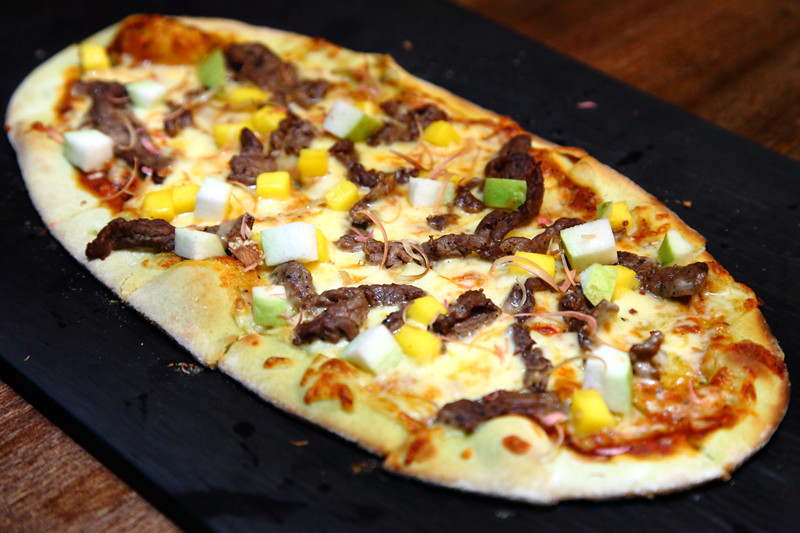 Thai-Beef-Guava-Salad-Pizza