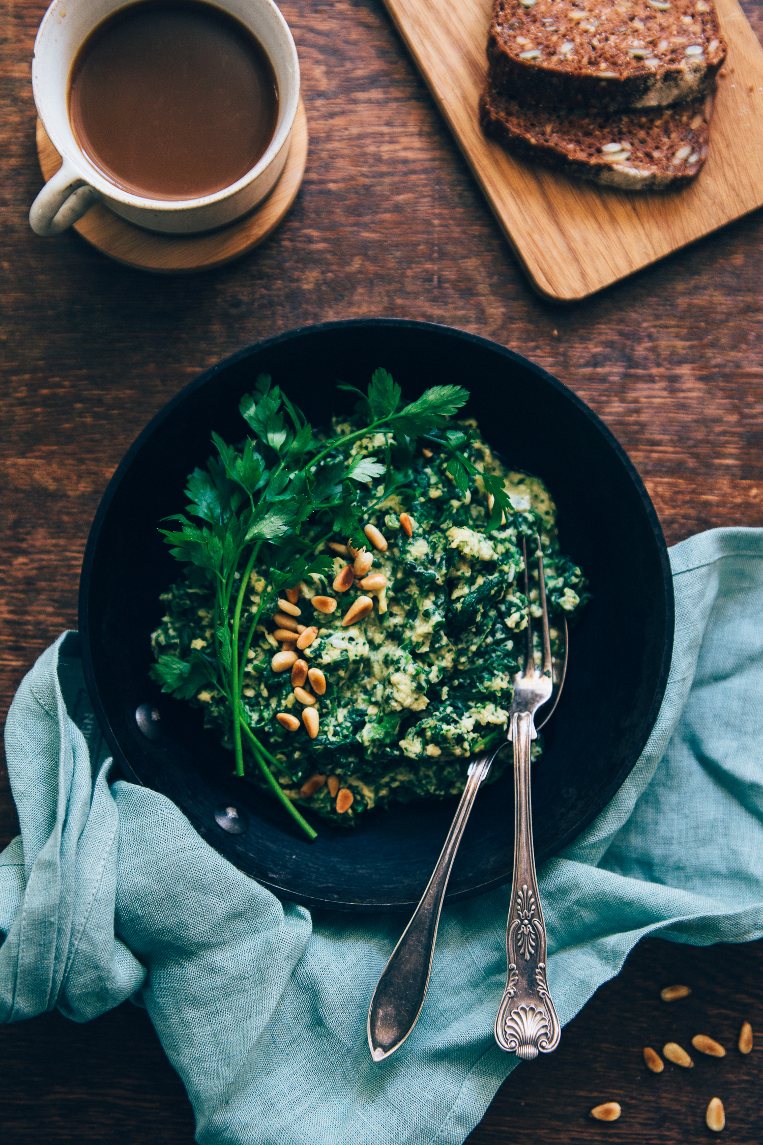 Sunday Spinach & Egg Scramble | Cashew Kitchen