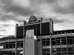 Ohio stadium- dark night