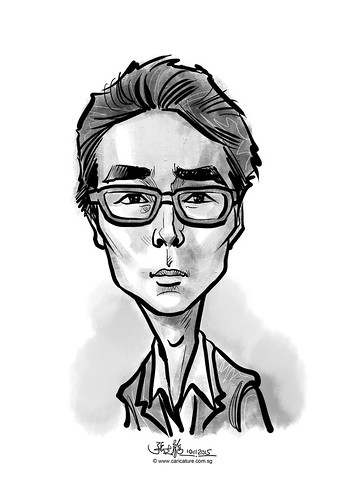 digital caricature for eBay - Ki Won Jin