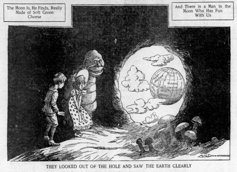 Walt McDougall - The Salt Lake herald., October 26, 1902, They Looked Out Of The Hole And Saw The Earth Clearly