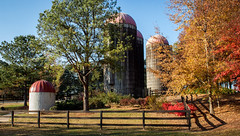 Autumn Colors And Old Silos