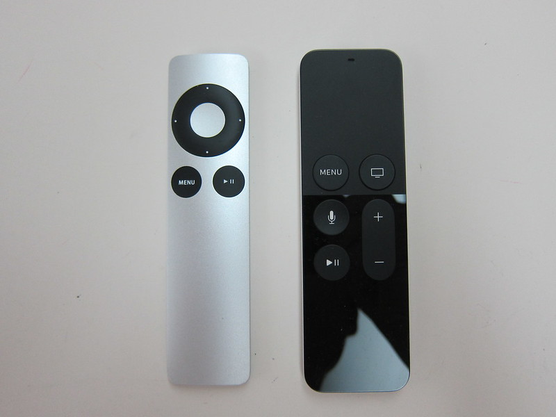 Apple Remote vs Apple Siri Remote - Front