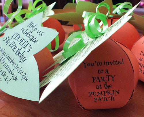 Phoebe's Pumpkin Patch Party Invitations