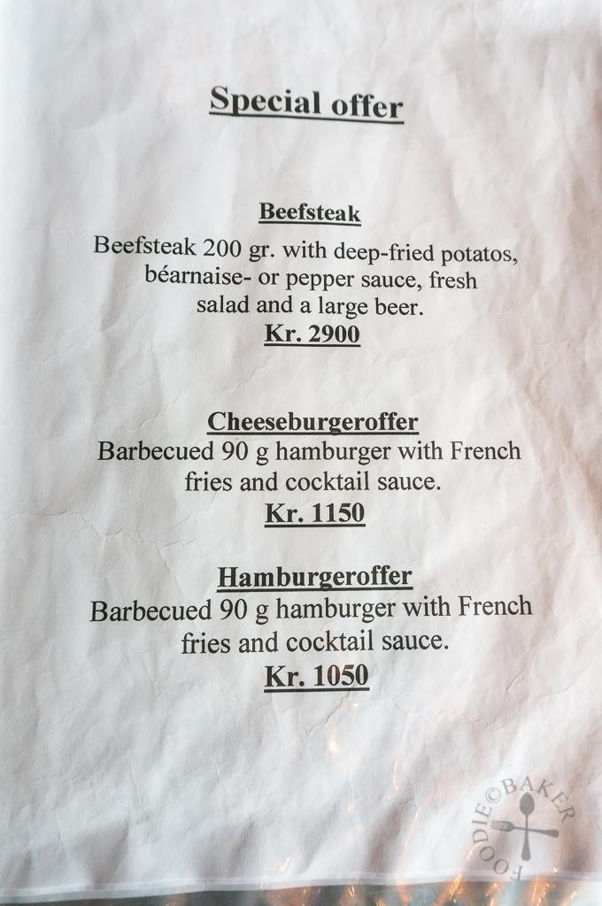 Vitabar menu