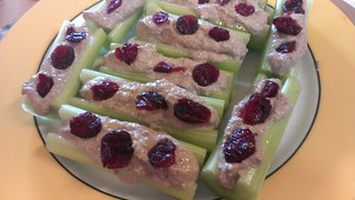 Celery Stuffed with Walnut Cheese