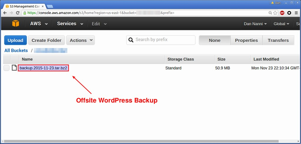 Offsite Backup to AWS S3