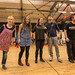 Gail Watson, Charlotte Miranda Smith, Claire-Marie Seddon, James Rottger & John Kielty in rehearsal