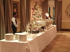 A beautiful buffet awaits club members at the Carolina Country Club.