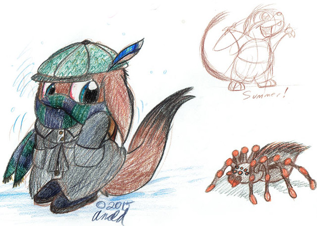 11.29.15 - Winter Critter (and friends)