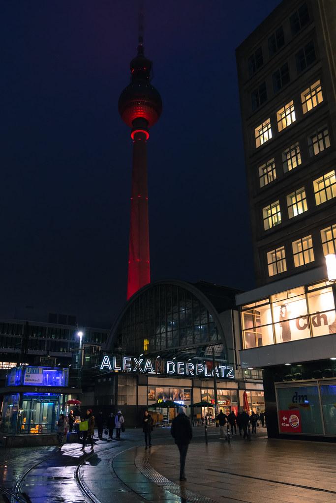 Berlin Alexanderplatz by Night