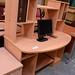 Beech laminate study desk