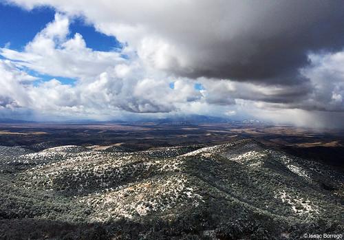 light arizona snow storm mountains clouds canyon iphone whetstonemountains apachepeak