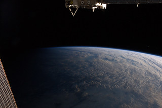 Slipping into the shadow of night | by Tim Peake