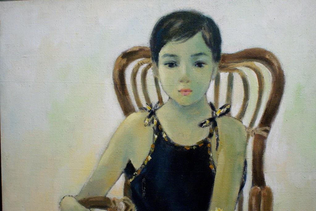 """""""Portrait d'une jeune fille"""" par Le Vuong au musée des Beaux Arts de Saigon."""