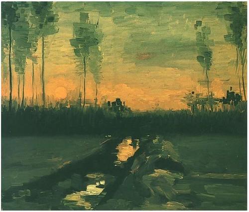 Landscape-at-Dusk - Van Gogh