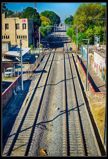 Vías del tren en Querétaro