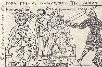 Antipope Clement III and Emperor Henry IV, from Codex Jenensis Bose