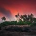 Sri Lanka. Lighthouse at sunset Beruwala