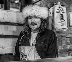 Stall holder at Borough Market, London