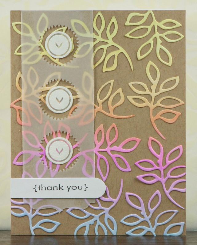 Die Cut Leaf Thank You Card | shirley shirley bo birley Blog
