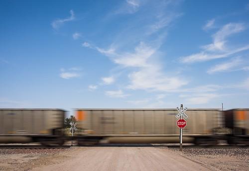 road railroad sky rural train colorado co sterling bnsf gradecrossing