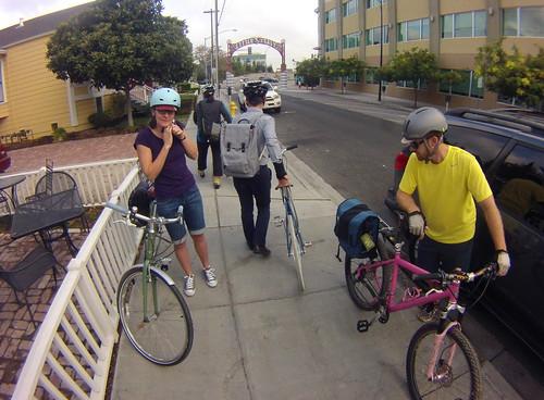 San Jose Bike Train meets at Bel Bacio Cafe