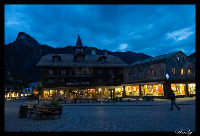 Anocheciendo en Oberammergau