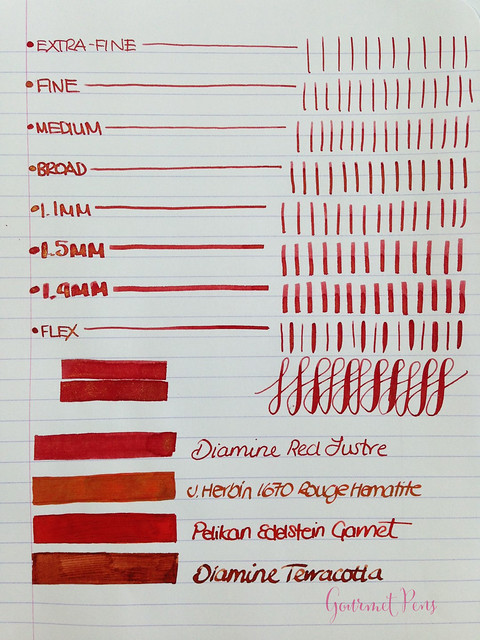 Ink Shot Review Diamine Red Lustre (3)