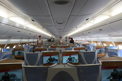 luxury yacht(0.0), yacht(0.0), ship(0.0), boarding(0.0), passenger ship(0.0), watercraft(0.0), boat(0.0), aerospace engineering(1.0), airline(1.0), aviation(1.0), airplane(1.0), passenger(1.0), vehicle(1.0), aircraft cabin(1.0),