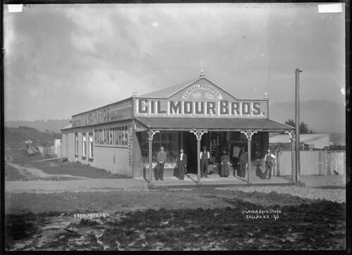 Gilmour Brothers' general store in Raglan. Six sta...