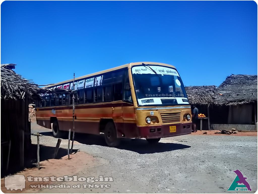 TN-63N-1139 of Rameswaram Depot Route 3 Temple - Danushkodi.