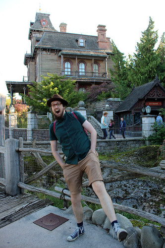 Bert in front of Phantom Manor