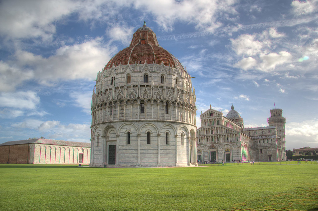 Baptistry, Duomo, and Leaning Tower of Pisa
