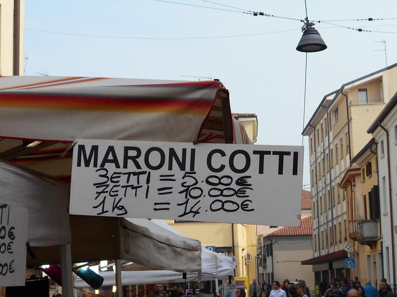 maroni cotti, fiera, Rovigo