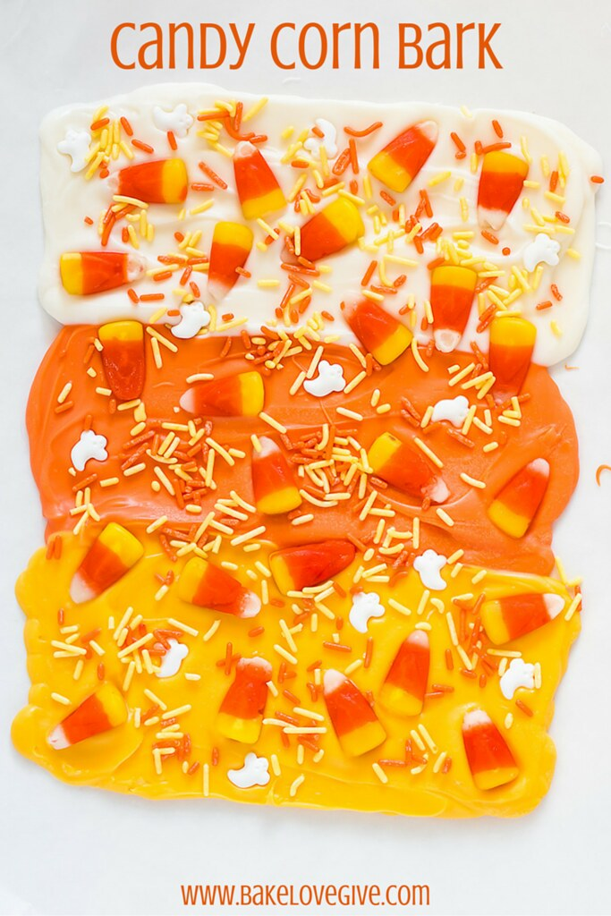 Halloween Candy Corn Bark is the easiest last minute treat for your favorite little monsters!