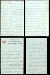 Christmas at the Front: letter from soldier M.A. Russell, 28th December 1915, France.