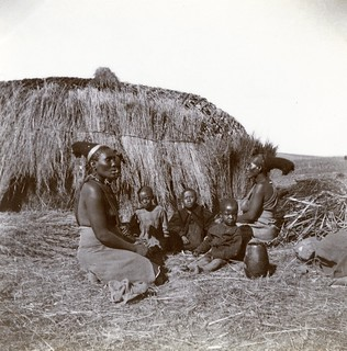Camp for native South Africans, c.1901.