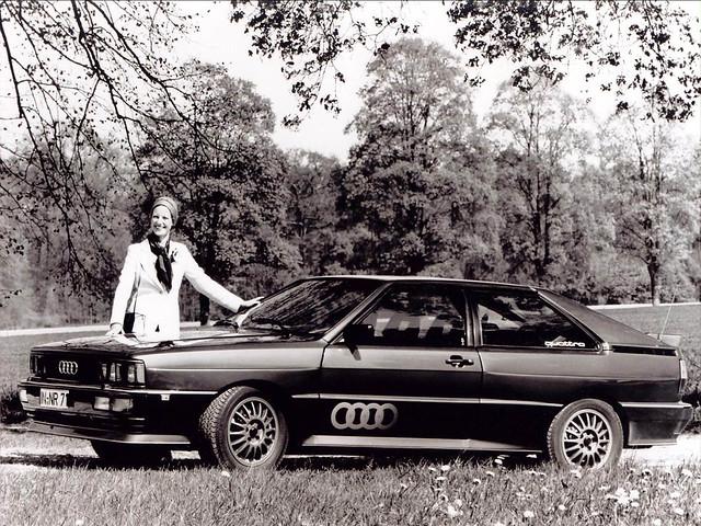 Спортивное купе Audi Quattro. 1980 год