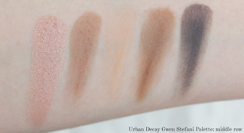 Gwen Stefani Urban Decay Swatches middle row