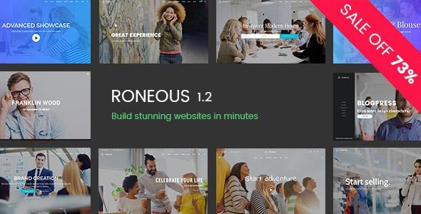 Roneous v1.2 - Creative Multi-Purpose WordPress Theme