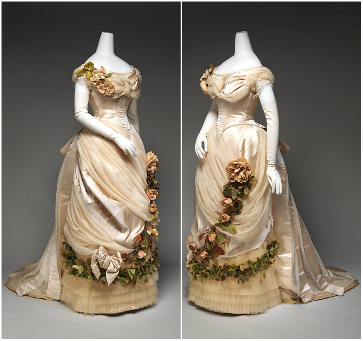 1882. Evening Dress. Silk. metmuseum