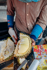 Durian on the streets of Chiang Mai