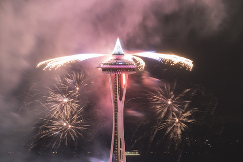 Space Needle New Years Fireworks
