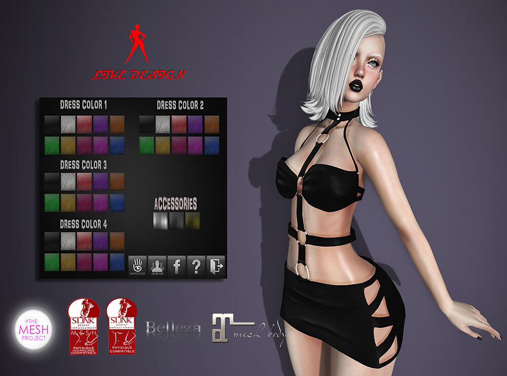 .: LIKE DESIGN :. Fetish Dress ( With Color HUD ) - SecondLifeHub.com