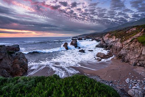 landscape bigsur moody sunset sundown twilight longexposure wideangle california garrapata bixbybridge sony a7r2 1635f4