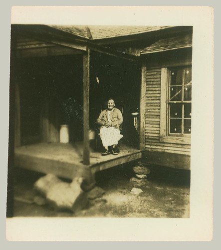 Woman on porch