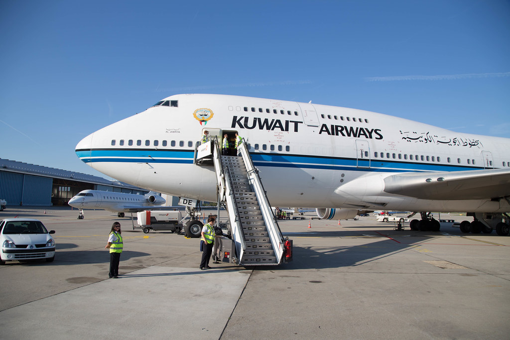 Kuwait Airways Boeing 747-400 in Geneva